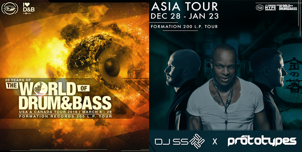 the world of drum & bass usa tour flyer